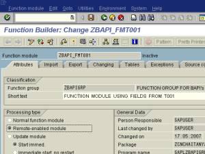 Step-by-step Procedure to Create BAPI