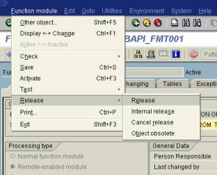 Step-by-step Procedure to Create BAPI