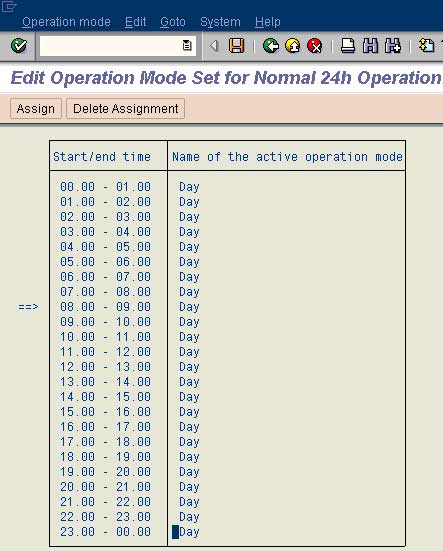 Setting up Operations Modes