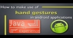 Android Gestures: Using Touch Gestures