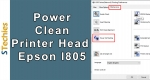 How to Power Flush/ Clean your Printer Head for Epson l805