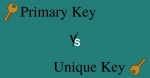 Difference between Primary key and Unique key with Comparison Chart