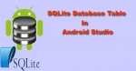 SQLite Database Table in Android Studio