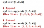 append() and extend() in Python
