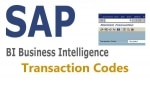 SAP BI (Business Intelligence) Transaction Codes