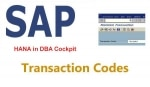 SAP HANA T-Codes for Administration and Monitoring in DBA Cockpit