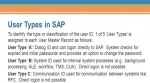User Types in SAP