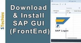 SAP GUI Tutorial