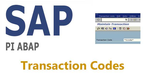 SAP PI ABAP Transaction Codes