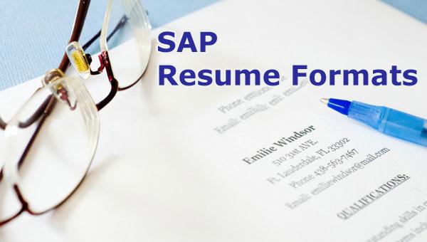 sap mm sample resumes