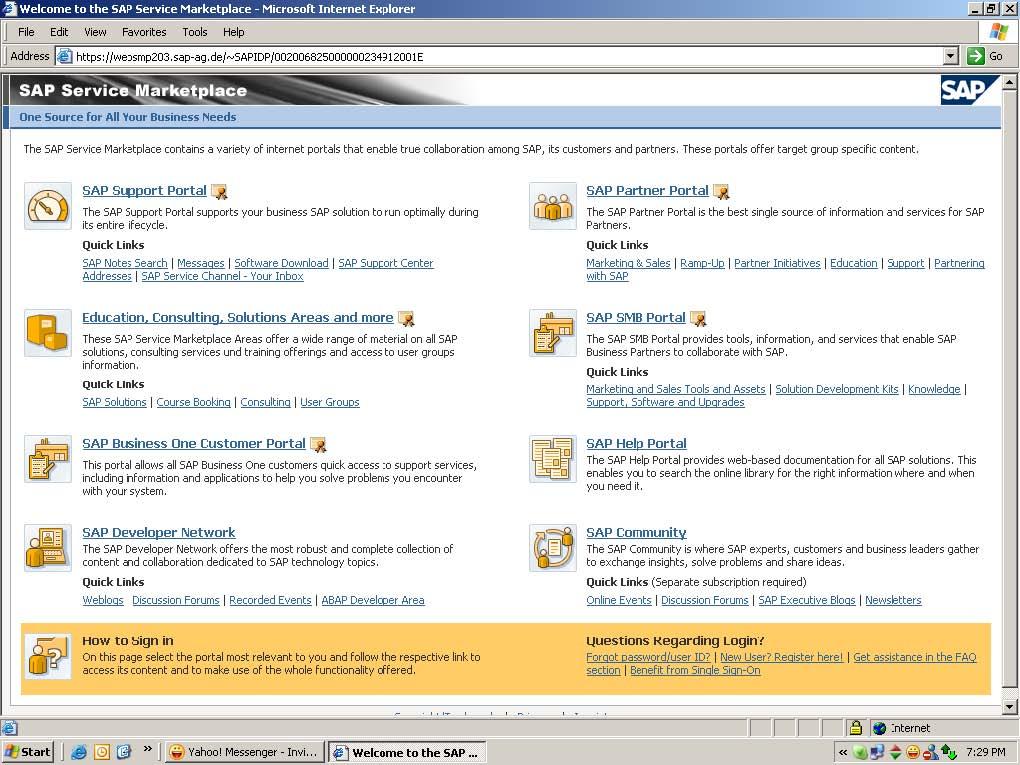 sap service marketplace in sap basis
