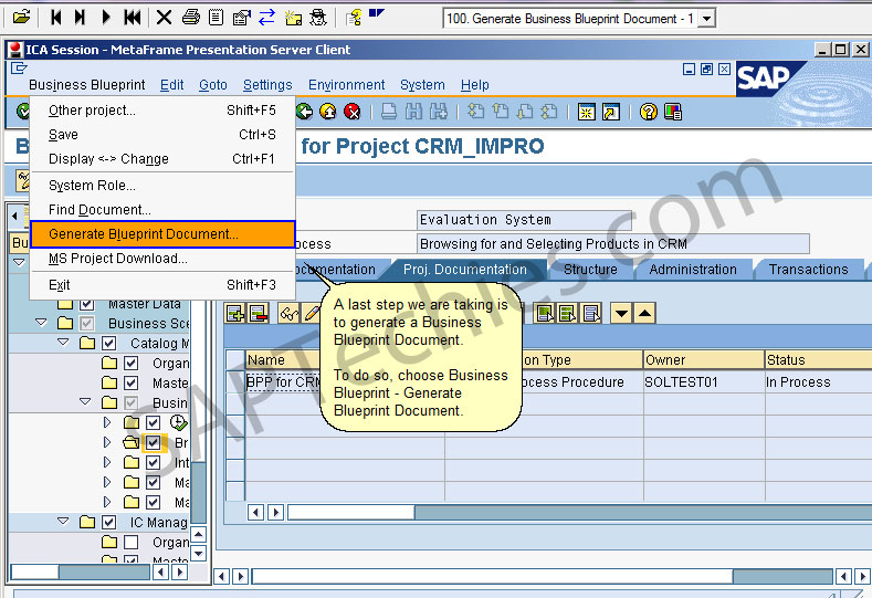 Delighted business blueprint template gallery example business sap solution manager in an implementation project crm 50 stechies malvernweather Image collections
