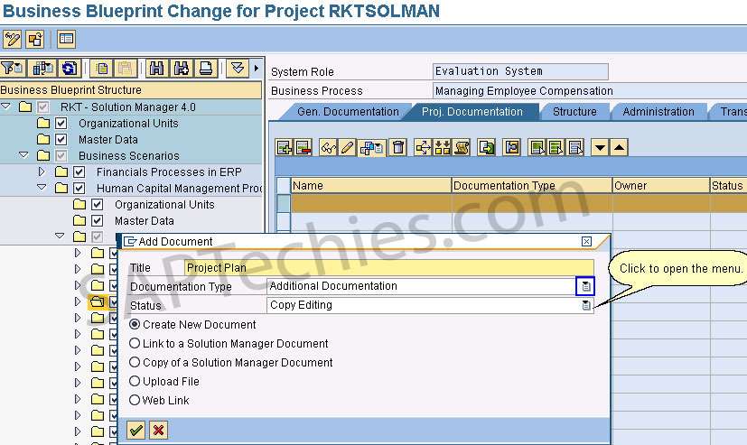 Check in check out functionality sap solution manager 40 in business blueprint change for project rktsolman click to open the menu malvernweather Image collections