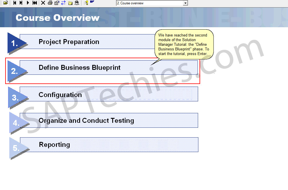 Define business blueprint sap solution manager 31 stechies we have reached the second module of the solution manager tutorial the define business blueprint phase to start the tutorial press enter malvernweather Choice Image