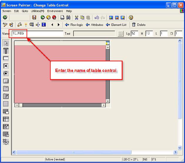 Create SAP Table Control ABAP