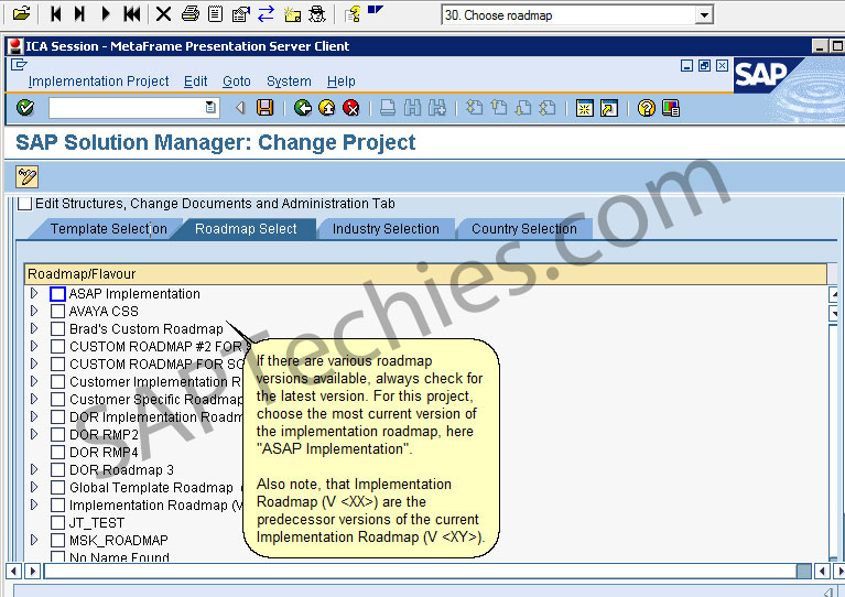 SAP Solution Manager in an Implementation Project, CRM 5.0