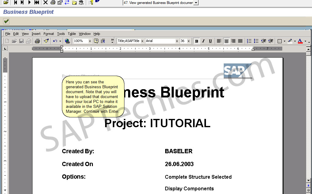 Define business blueprint sap solution manager 31 define business blueprint sap solution manager 31 back to the solution manager tutorial you can now proceed to module number three the confirm phase malvernweather Image collections