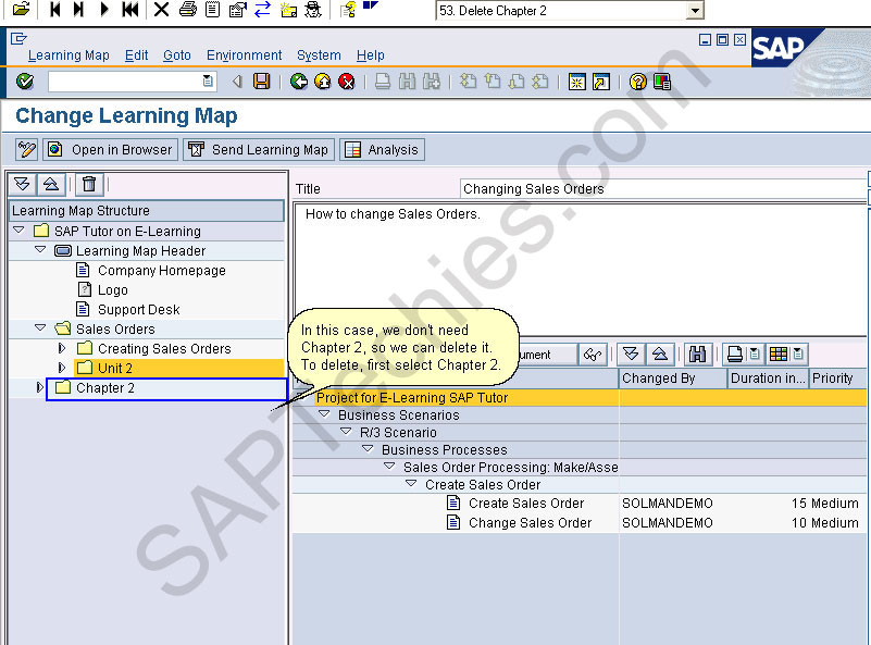 how to change material description in sap
