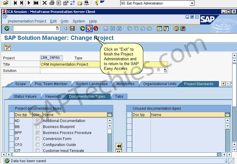 Sap solution manager in an implementation project crm 50 stechies business blueprint solar01 malvernweather Images