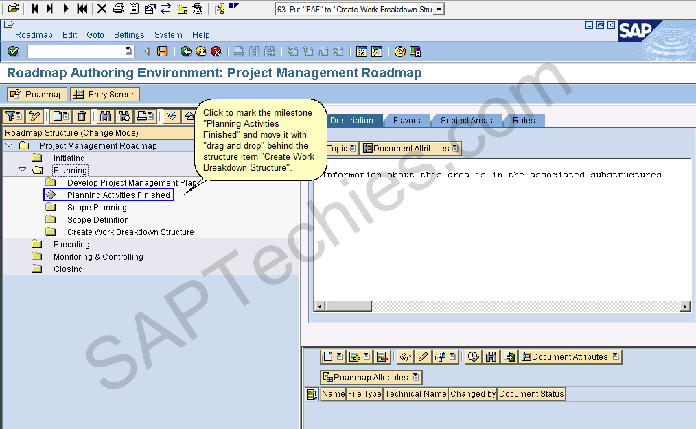 roadmap authoring environment project management roadmap