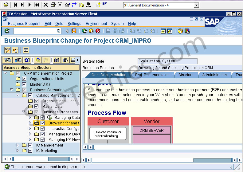 Sap solution manager in an implementation project crm 50 business blueprint change for project crmimpro malvernweather Gallery
