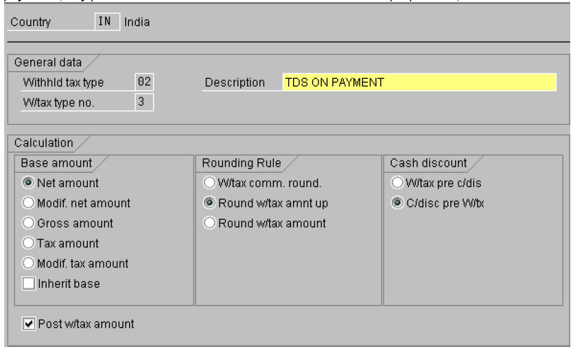 withholding tax in sap in sap fico