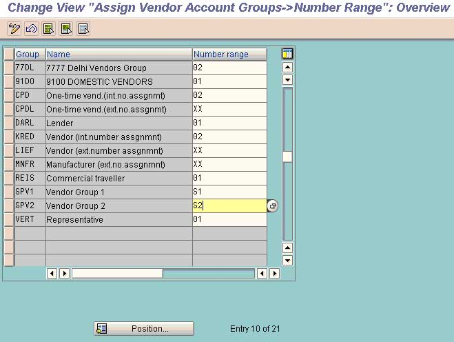 Assign Number Range to Vendor