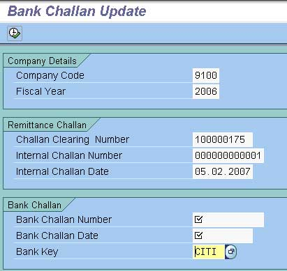 Bank Challan Update