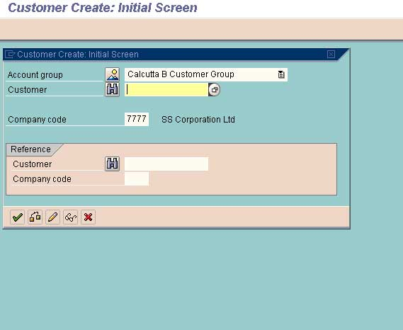 create customer master record in sap fico