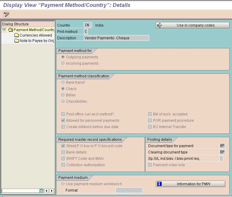fbzp settings all company codes in sap fico