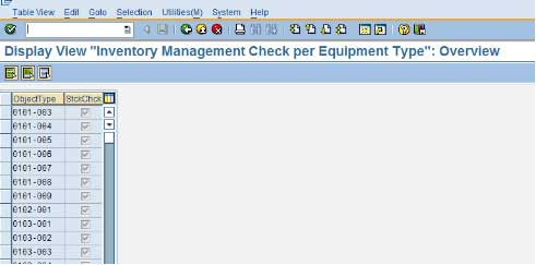 Inventory Management Check Per Equipment