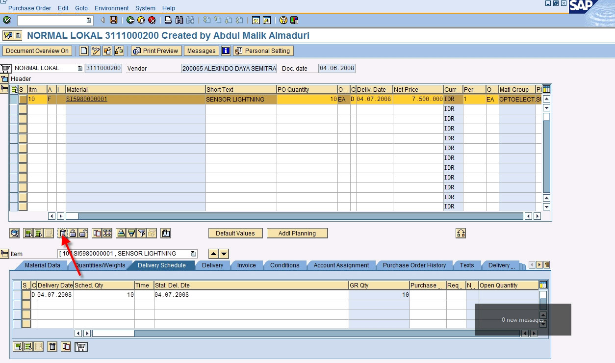 Function To Delete Po Items In Sap Abap