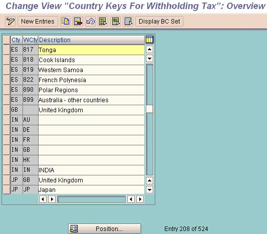 Configuring Withholding Tax (TDS) in SAP FICO