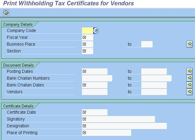 Print The Withholding Certificate Form 16 Fico