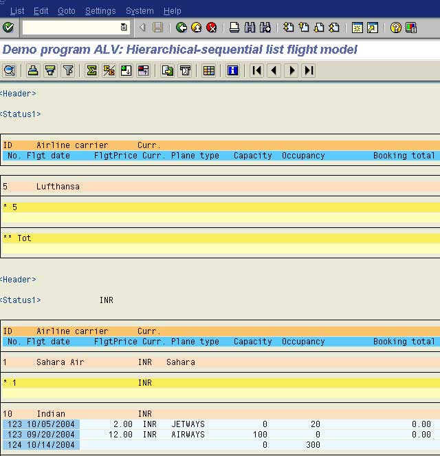 Hierarchical Reports Example