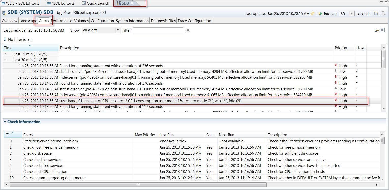 HANA Alert 5 'Host CPU Usage'
