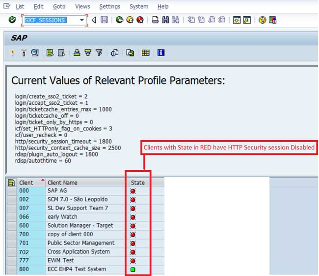 Activating HTTP Security Session Management in SAP ABAP
