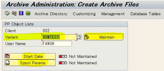 How to Archive BOM (Bills of Material) in SAP PP