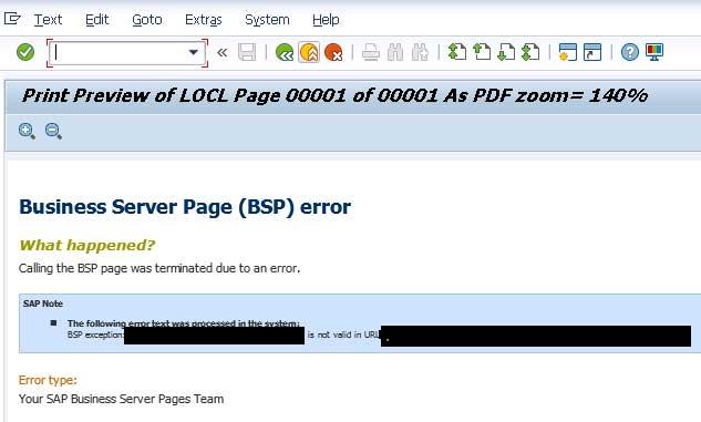 PDF Preview of SAPscript results in BSP error in SAP ABAP