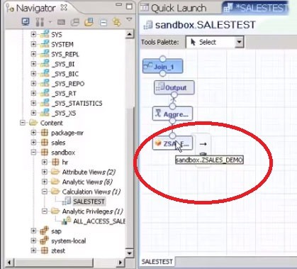 Create a Calculation View for HANA Modeling