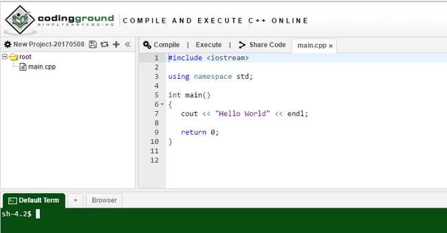 best online c   compiler