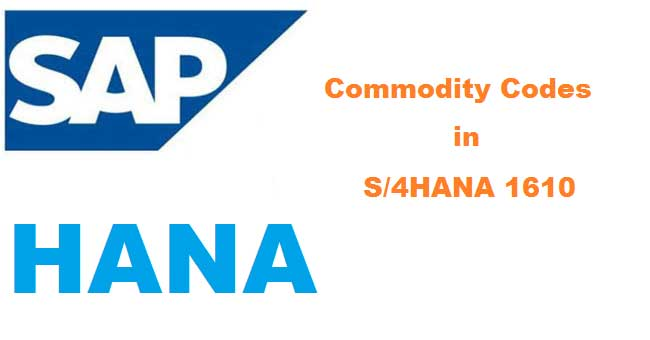 Defining Commodity Codes In S 4hana 1610