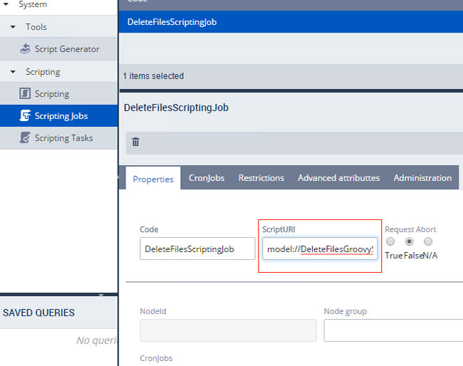 CronJob to delete files in SAP Hybris