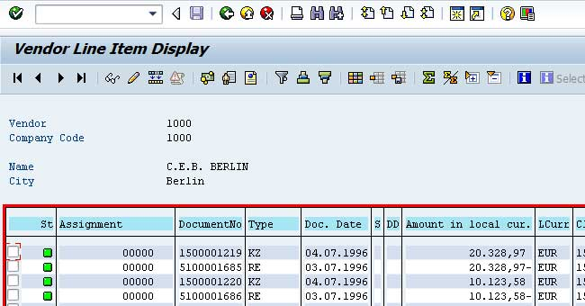 Transactions Fbl1n Fbl3n Fbl5n Or As Of Erp2004 Fagll03