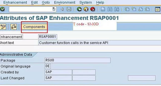 Difference between SMOD and CMOD in SAP in SAP ABAP