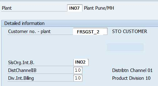 Configure STO (Stock Transfer Order) process for GST