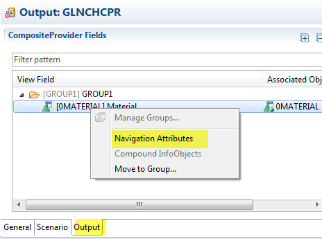 Set Navigation Attributes for aaDSO, HCPR or Aggregation