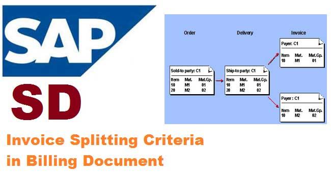 Invoice Splitting Criteria in Billing Document in SAP SD