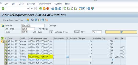 Convert Simulation planned order to Operational planned
