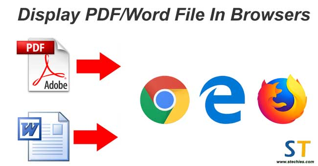 How to display PDF/Word File in browser in PHP